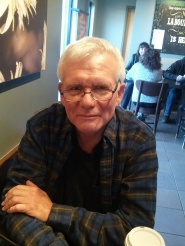 Daryl Luster, president of the Pacific Hepatitis C Netword, at Starbucks in Richmond, B.C.
