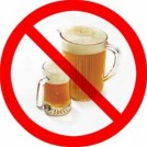 circle and slash over beer mugs mean no drinking